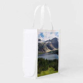 Hidden Lake Overlook Glacier National Park Montana Reusable Grocery Bags