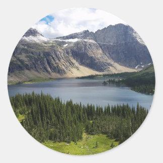 Hidden Lake Overlook Glacier National Park Montana Round Sticker