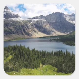 Hidden Lake Overlook Glacier National Park Montana Square Sticker