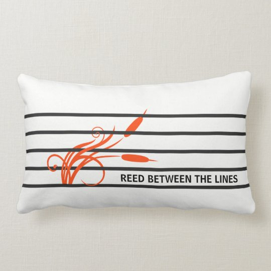Hidden message stripes lumbar pillow