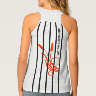 Hidden message stripes tank top