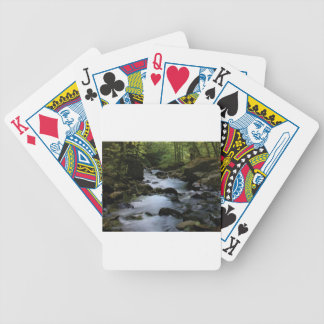 hidden stream in forest bicycle playing cards