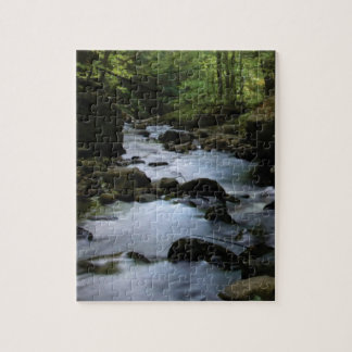 hidden stream in forest jigsaw puzzle