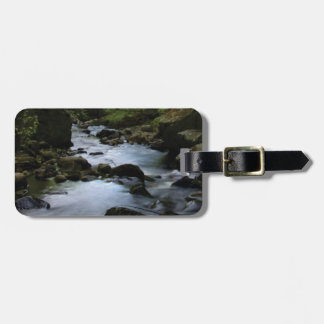hidden stream in forest luggage tag
