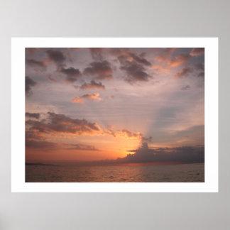 Hidden Sunset Doctor's Cave Montego Bay Jamaica Poster