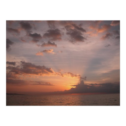 Hidden Sunset, Montego Bay Jamaica 2003, Large Gic Posters