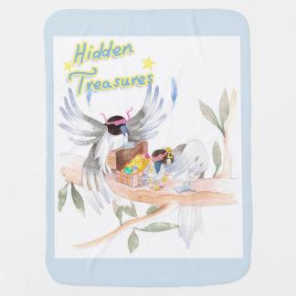 """""""Hidden Treasures"""" Baby Blanket Blue"""