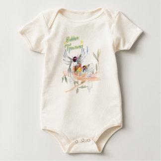 """""""Hidden Treasures"""" Baby Organic Bodysuit"""
