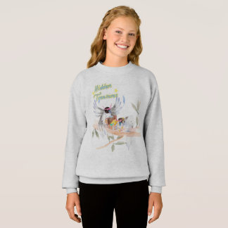 """Hidden Treasures"" Girls' Sweatshirt Grey"