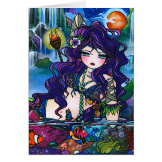 """Hidden Treasures"" Mermaid Fairy Card"
