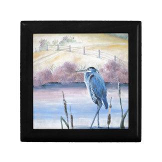 Hidden Valley Blue Heron Pastel Acrylic Art Gift Box