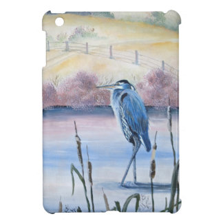 Hidden Valley Blue Heron Pastel Acrylic Art iPad Mini Cases
