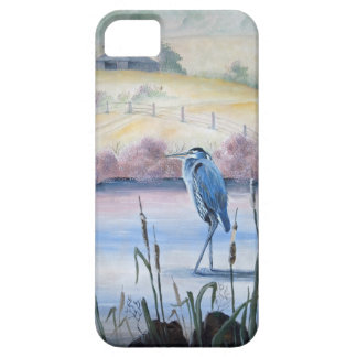Hidden Valley Blue Heron Pastel Acrylic Art iPhone 5 Cover