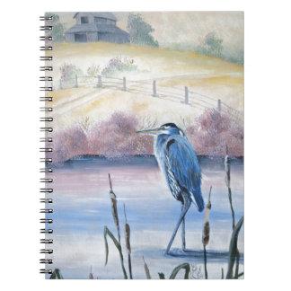 Hidden Valley Blue Heron Pastel Acrylic Art Notebook