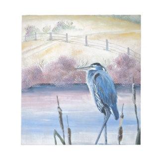 Hidden Valley Blue Heron Pastel Acrylic Art Notepad