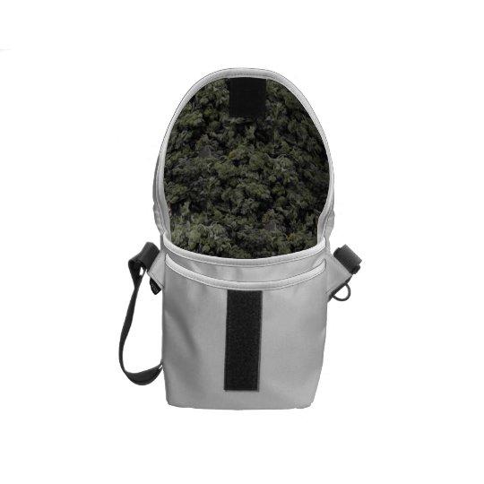 Hidden Weed Print Messenger Bag