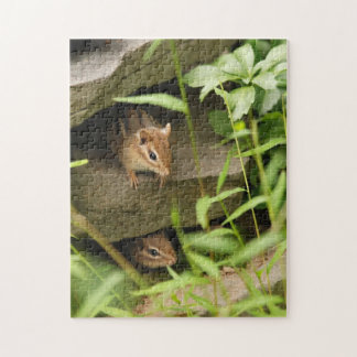 Hide and Seek Baby Chipmunks Jigsaw Puzzle