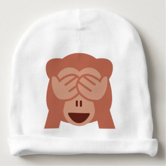 Hide and seek Emoji Monkey Baby Beanie