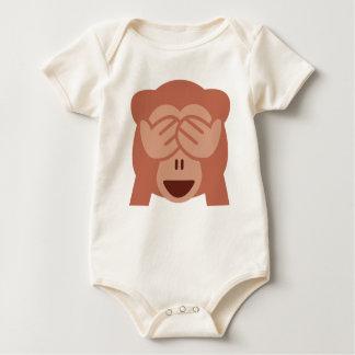 Hide and seek Emoji Monkey Baby Bodysuit