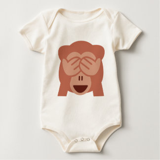 Hide and seek Emoji Monkey Baby Bodysuit