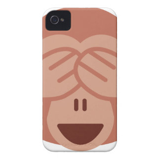 Hide and seek Emoji Monkey iPhone 4 Cases