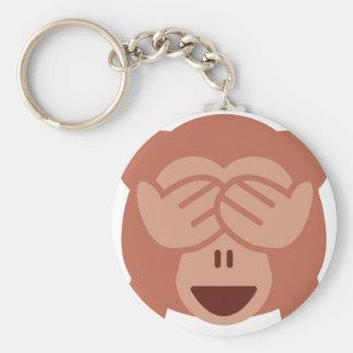 Hide and seek Emoji Monkey Keychain