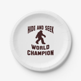 Hide and seek world champion bigfoot paper plates 7 inch paper plate