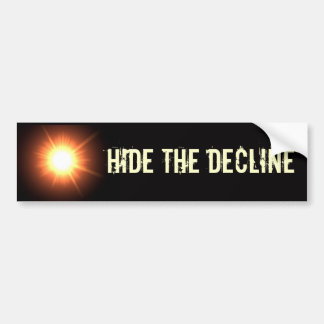 Hide the Decline Bumper Sticker