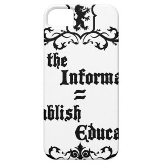 Hide The Information Establish Education iPhone 5 Cases