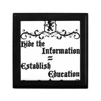 Hide The Information Establish Education Keepsake Box