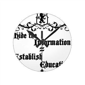 Hide The Information Establish Education Round Clock