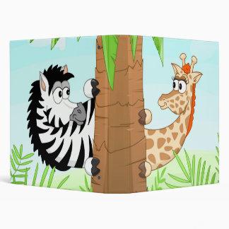 Hiding giraffe and zebra binder