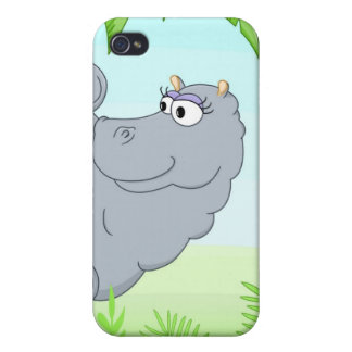 Hiding hippo iPhone 4/4S cover