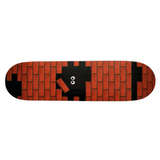 Hiding in the Dark Brick Wall Funny Cartoon deck Skate Board