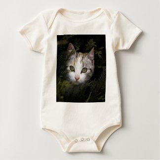Hiding Kitten Baby Bodysuit