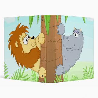 Hiding lion & hippo binder