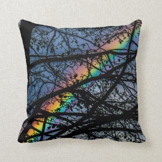 Hiding Rainbow Throw Pillow