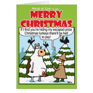 Hiding Turkeys Greeting Card