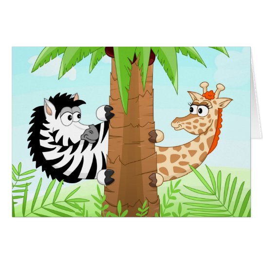 Hiding zebra and giraffe card