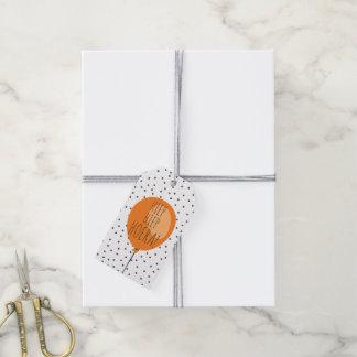 Hiep Hiep Hoera Orange Balloon Dutch Birthday Pack Of Gift Tags