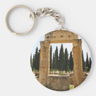 Hierapolis - ancient Greek city near  Pamukkale Basic Round Button Keychain