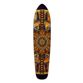 Hieroglyph Moth Mandala Skateboard Deck