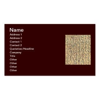 Hieroglyphics Business Card