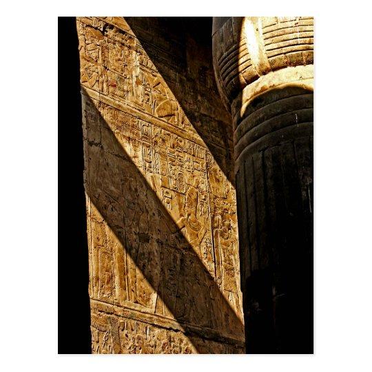 Hieroglyphics in Shadow Postcard
