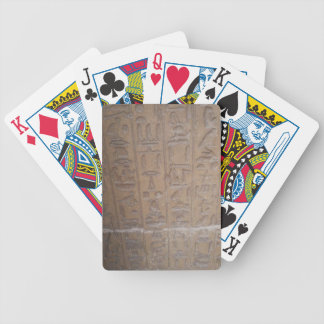 Hieroglyphics Series Bicycle Playing Cards