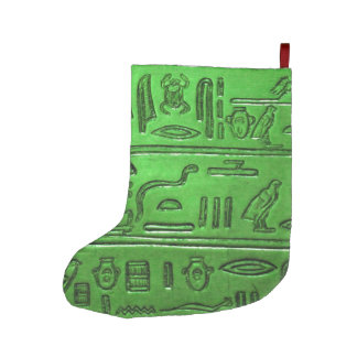 Hieroglyphs 2014-1023 large christmas stocking