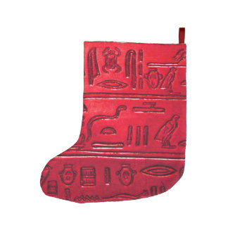 Hieroglyphs 2014-1053 large christmas stocking