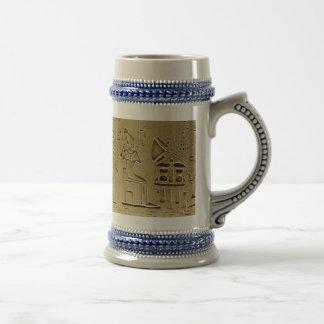 Hieroglyphs Beer Stein