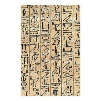 Hieroglyphs Hieroglifos Stationery