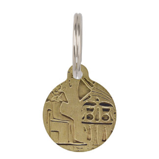 Hieroglyphs Pet Name Tag
